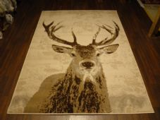Modern Approx 8x5 160x230cm Woven Backed stag Rug Sale Top Quality Beiges/Creams